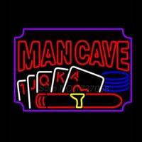 Poker Cigar Man Cave Neon Sign
