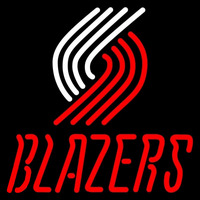 Portland Trail Blazers Primary 2002 03 Logo NBA Neon Sign Neon Sign