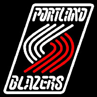 Portland Trail Blazers Primary 2003 04 Logo NBA Neon Sign Neon Sign