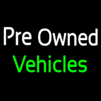 Pre Owned Vehicles Neon Sign