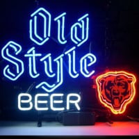 Professional  Chicago Bears Old Style Beer Neon Bar Pub Lager Sign Neon Sign