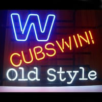 Professional Chicago Cubs Win W Old Style Beer Real Neon Sign Free 2 Neon Sign