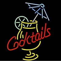Professional Cocktail And Martini Umbrella Cup Beer Bar Real Gift Fast Ship Neon Sign
