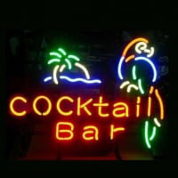Professional Cocktail Bar Parrot Beer Bar Opens Neon Sign