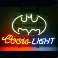 Professional Coors Batman Beer Bar Opens Neon Sign