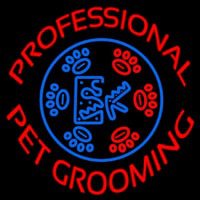 Professional Pet Grooming Neon Sign