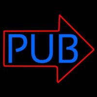 Pub With Arrow Neon Sign