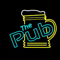 Pub With Beer Mug Neon Sign