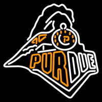 Purdue Boilermakers Primary 1996 2002 Logo NCAA Neon Sign Neon Sign