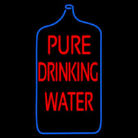 Pure Drinking Water Neon Sign