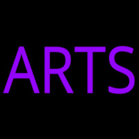 Purple Arts Neon Sign