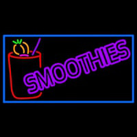 Purple Double Stroke Smoothies Neon Sign