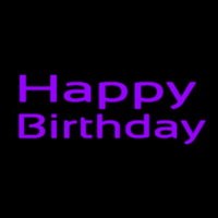 Purple Happy Birthday Neon Sign