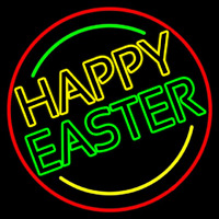 Purple Happy Easter 1 Neon Sign