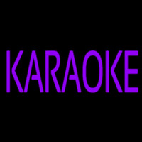 Purple Karaoke Block 1 Neon Sign