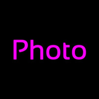 Purple Photo Neon Sign