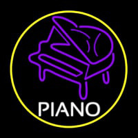 Purple Piano Neon Sign