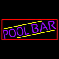 Purple Pool Bar With Red Border Neon Sign