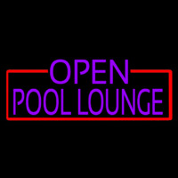 Purple Pool Lounge With Red Border Neon Sign