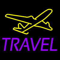 Purple Travel Neon Sign