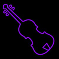 Purple Violin Neon Sign