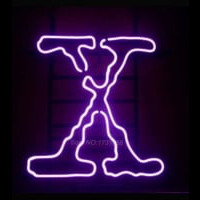 Purple X Retro Neon Sign