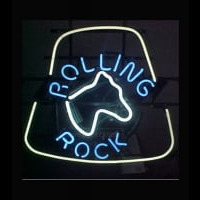 RARE ROLLING ROCK Neon Sign