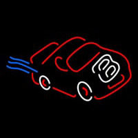 Racing Red Car Neon Sign