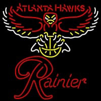 Rainier Atlanta Hawks NBA Neon Beer Sign Neon Sign