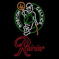 Rainier Boston Celtics NBA Beer Sign Neon Sign
