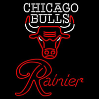 Rainier Chicago Bulls NBA Beer Sign Neon Sign