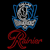 Rainier Dallas Mavericks NBA Beer Sign Neon Sign