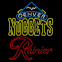 Rainier Denver Nuggets NBA Beer Sign Neon Sign