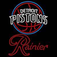 Rainier Detroit Pistons NBA Beer Sign Neon Sign