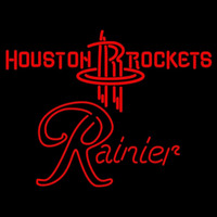 Rainier Houston Rockets NBA Beer Sign Neon Sign