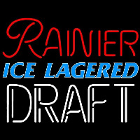 Rainier Ice Lagered Draft Beer Sign Neon Sign