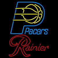 Rainier Indiana Pacers NBA Beer Sign Neon Sign