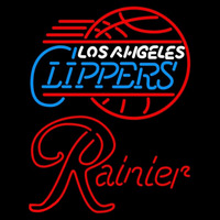 Rainier Los Angeles Clippers NBA Beer Sign Neon Sign