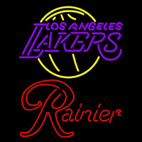 Rainier Los Angeles Lakers NBA Beer Sign Neon Sign