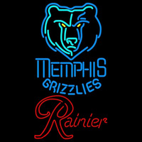 Rainier Memphis Grizzlies NBA Beer Sign Neon Sign