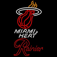 Rainier Miami Heat NBA Beer Sign Neon Sign