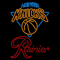 Rainier New York Knicks NBA Beer Sign Neon Sign