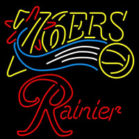 Rainier Philadelphia 76ers NBA Beer Sign Neon Sign