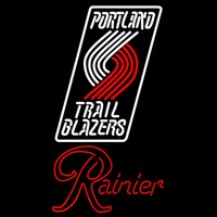 Rainier Portland Trail Blazers NBA Beer Sign Neon Sign