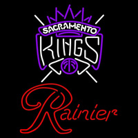 Rainier Sacramento Kings NBA Beer Sign Neon Sign