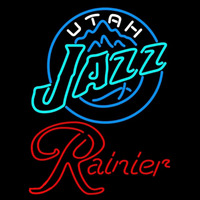Rainier Utah Jazz NBA Beer Sign Neon Sign
