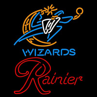 Rainier Washington Wizards NBA Beer Sign Neon Sign