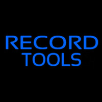 Record Tools Neon Sign