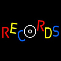 Records Block 1 Neon Sign