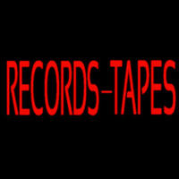 Records Tapes Neon Sign